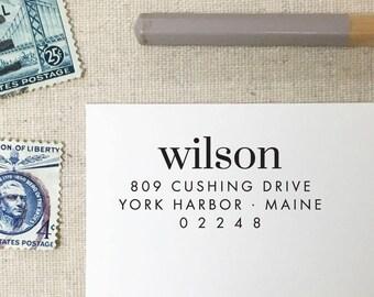 Return Address Stamp. Style 56. Self-Inking Stamp. Wooden Stamp. Wooden Mailing Stamp. Custom Address Stamp. Self-Inking Address Stamp.