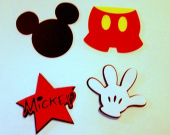 4 Mickey Mouse  7 inch die cut shapes