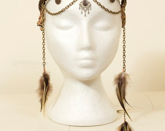 Tribal Feather Chain Headdress