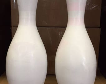 plain white craft bowling pins