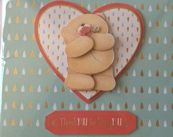 Forever Friends Thank you Card