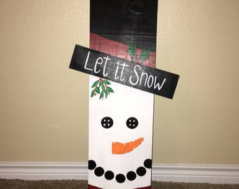 Reversible fall/winter decorative holiday sign