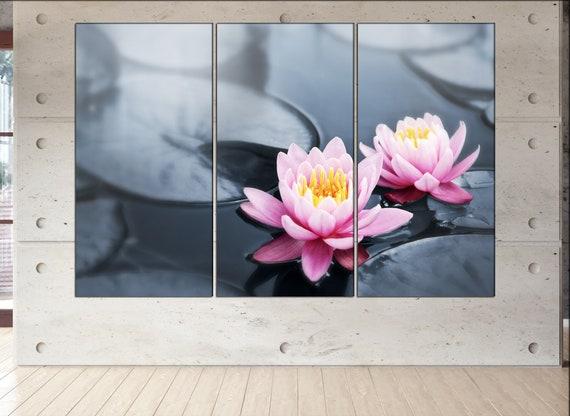 lotus blossoms  canvas lotus blossoms wall decoration lotus blossoms canvas art lotus blossoms large canvas  wall decor