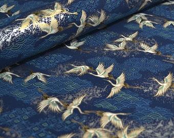 "9"" x 12"" Japanese Chiyogami Paper - Blue Cranes"