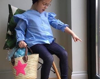 girls denim look leggings / baby leggings / toddler jeggings  / toddler leggings / kids denim leggings / kids leggings / hipster kid