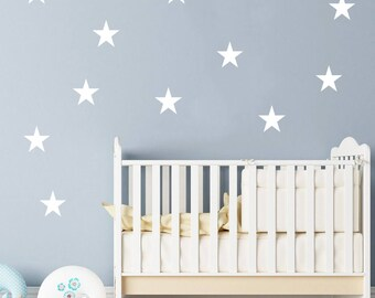 "12 Stars Wall Decals Set 4"" / Nursery Wall Decal. Star Wall Decal. Star Wall Stickers. Wall Vinyl Sticker Nursery. Baby Room Decor Art F11"