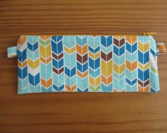 Colorful arrowy pencil pouch