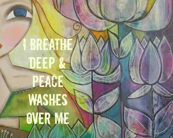 Peace Washes over Me 5x7 ART card PRINT