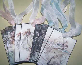 Fairy Tags Arthur Rackham All Occasion Gift Tags Set of 8
