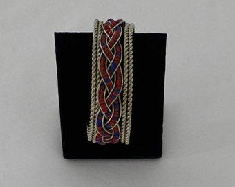 Vintage Beaded Cuff Boho Bracelet