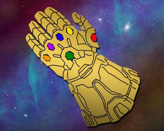 Infinity gauntlet decal war avengers thanos iron man