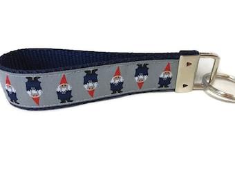 Gnomes Keychain, Key fob, Wristlet