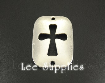 5pcs Antique Silver Gold Alloy Sideways Cross Connector Charms A680/A681