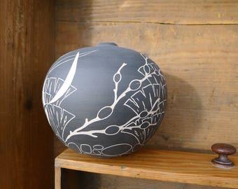Hand Coiled Seashore Vase