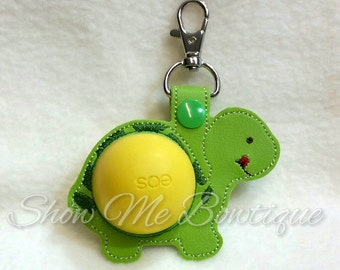 Turtle Sphere lip balm Key Fob design Instant Download