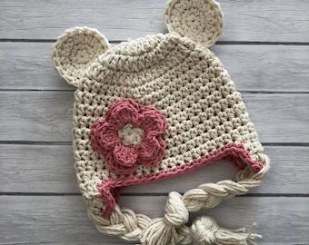 Bear hat, baby bear hat, newborn bear hat, baby hat, crochet bear hat, baby boy hat, newborn hat, teddy bear hat, crochet bear hat