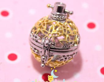 Metal cage shape double color Bola Harmonyball stars 36/28 mm round