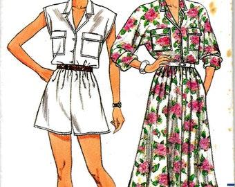 Butterick 3763       Misses Dress and Jumpsuit      Size 6,8,10       Uncut