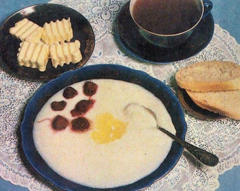 Russian cuisine porridge .a set of 12 recipes.1980's