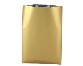 20, 50, 100 or 200 10x15cm or 15x25cm metallic gold gift box