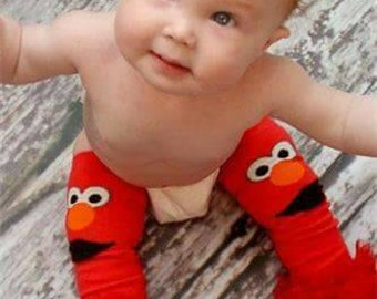 Elmo Tutu Leg Warmers, Elmo leg warmers, sesame Street leg warmers, baby leg warmers, Elmo birthday, Elmo tutu