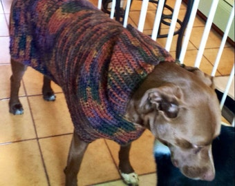 Fall in Vermont, Wool Dog Sweater, Dog Hoodie, wool dog sweaters, brown dog sweaters, large dog sweater, knitted dog sweater, dog coat,