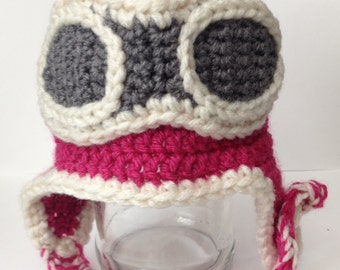 Adorable Aviator Beanie/ Hat  - Photo Prop - All Sizes & Any Color