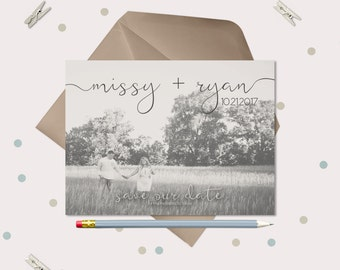 Wedding Save the Date Magnets  or Cards · Lettered name