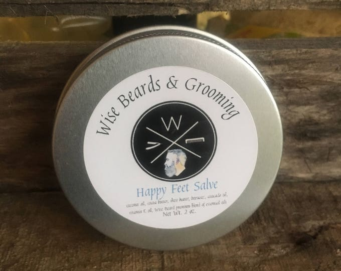 Happy Feet Salve - Winter Feet and Hand Balm - Cooling and Moisturizing Dry Skin Balm