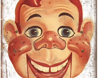 "Howdy Doody Cutout Book Art 10"" x 7"" Reproduction Metal Sign J83"