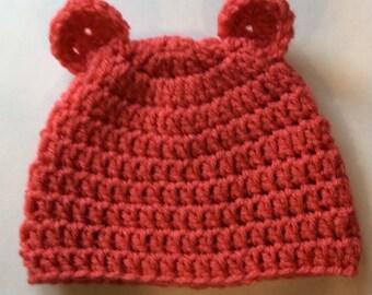 Baby Girls Salmon Animal Hat