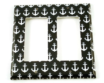 Switchplate Double Rocker Navy Switch Plate Light Switch Cover in Sail Away  (114DR)