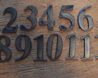 "Metal numbers 1-12  2"" tall S2 - painted black"