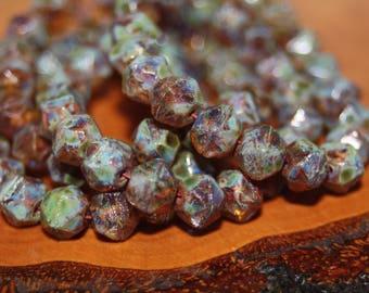 Czech Glass Beads, English Cut, 8mm, 20 Beads