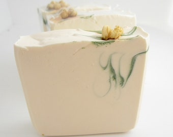 Jasmine Soap Handmade Cold Processed Soap with Real Jasmine Flowers