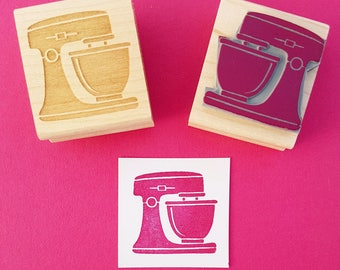 Kitchen Mixer Stamp - Blender Rubber Stamp - Gift for Foodie - Gift for Baker - Baking Supplies - Scrapbooking - Cake Stamper - Machine