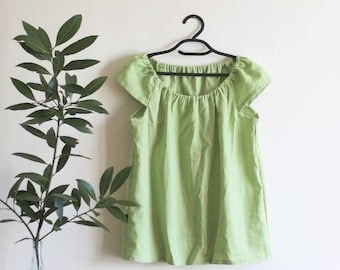 Loose linen top, Half sleeves blouse, Linen shirt, Different colors, Eco friendly linen