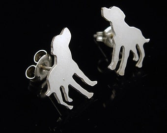 Mutt Sterling Silver Silhouette Earrings I