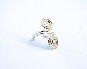 Ear Cuff, Silver Ear Cuff, Ear Wrap, Non Piercing Earring, Ear Cuff Non Pierced, Ear Cuff Silver, Handmade Jewelry, Earrings, Boho Jewelry