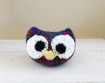 Big eyed owl doll, owl stuffed animal, stuffed animal, plush toy