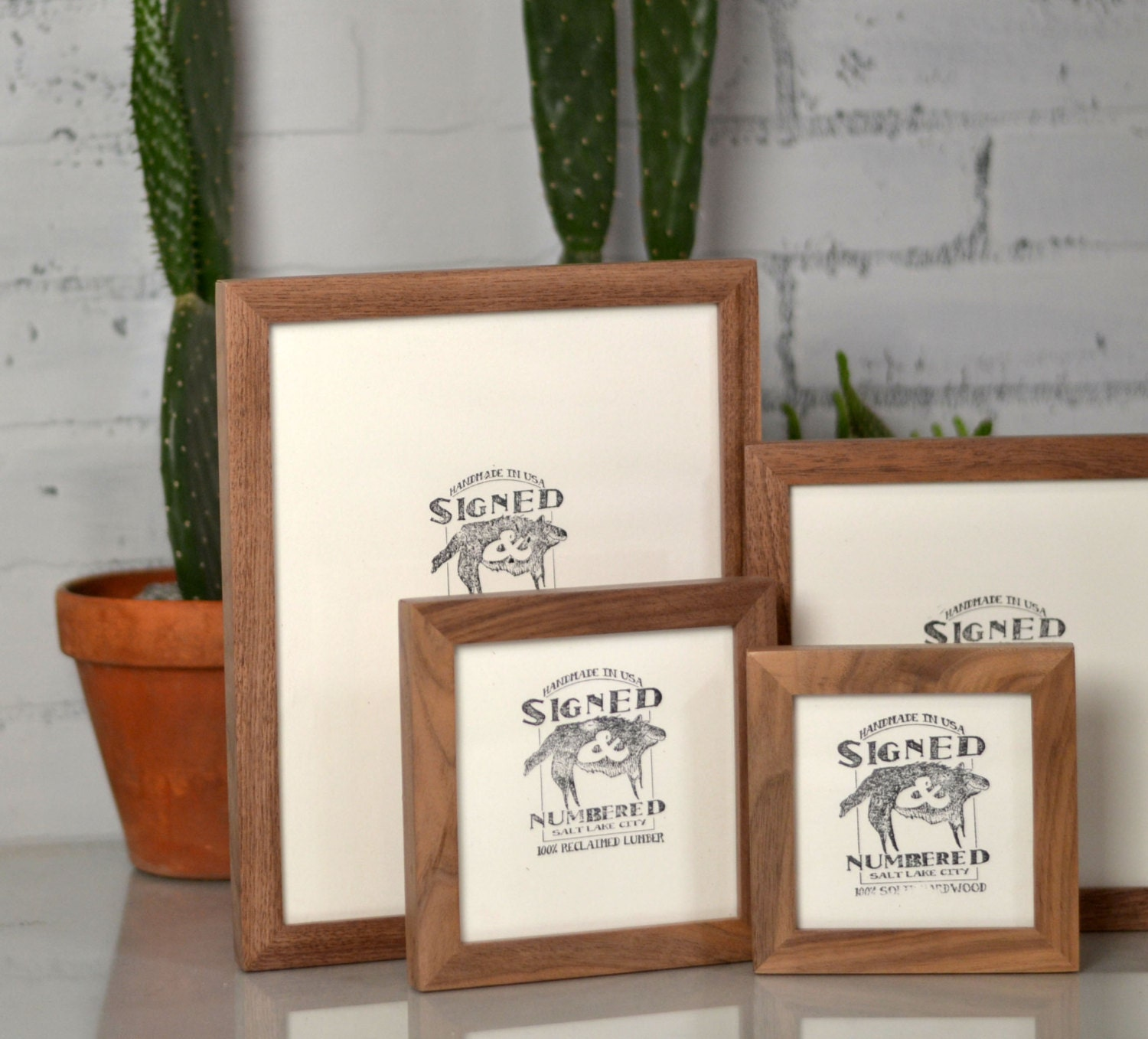 BASIC Picture Frame - Natural WALNUT Gallery Wall Frames - Choose ...