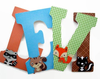 Woodland Nursery Letters - Gender Neutral Nursery Decor - Forest Wood Letters