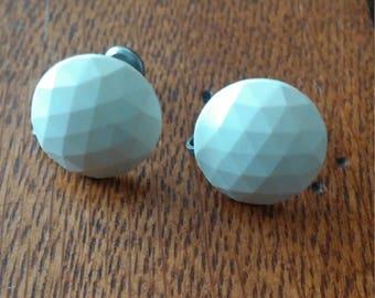 Golf Ball Screw Back Earrings