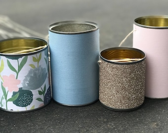 Wedding Tin Cans - Just Married/Make Some Noise/Car Cans/Aluminum Cans/Bride/Groom/Custom/Getaway/Tin Cans/Rustic/Chic/Charm/Wedding/Decor