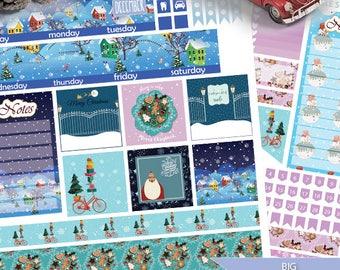 DECEMBER Big HP Planner Stickers, Big HP Winter December Monthly Planner Stickers, Christmas Planner Silhouette and Cricut Cut Files
