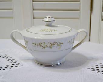 Vintage International Silver Springtime Sugar Bowl Floral Design 326 Replacement Made in Japan PanchosPorch
