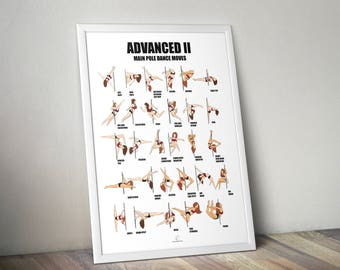 Posters pole dance moves advanced 2 level