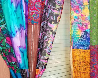 Boho Curtains Indian Holiday Hippie Hippy HippieWild Bohemian Gypsy cotton silk multicolor patchwork panels silk saree gold ribbon tie dyed