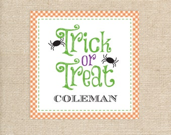 25 Printed Trick or Treat Halloween Tags