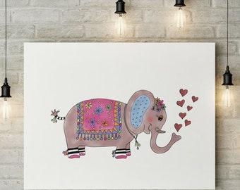 Miss Elephant Art Print - Jennifer Reid